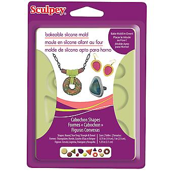 Sculpey Silicone Bakeable Mold Cabochon Apm8 81