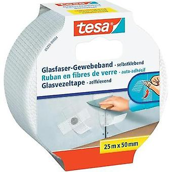 Cloth tape tesa tesa® White (L x W) 25 m x 50 mm