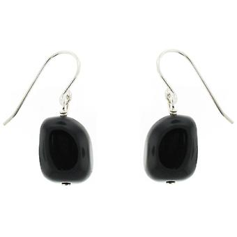 Lola Rose Fin Earrings Black Agate