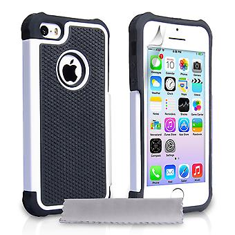 YouSave Accessories iPhone 5 5S Grip Combo Case White