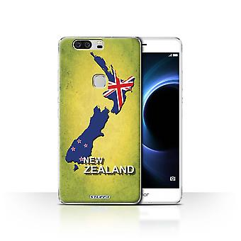 STUFF4 Case/Cover for Huawei Honor V8/New Zeeland/Flag Nations
