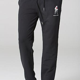 Polar Whites mens black bear Logo Sweatpants l : l