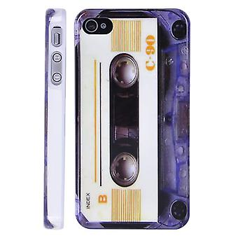 C-90 cassette cover, hard plastic, for iPhone 4/4s