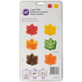 Candy Mold-9 Cavity Maple Leaf W1434