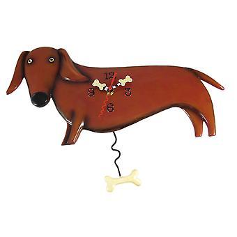 Allen Designs Oscar Dachshund Dog Wall Clock Wiener