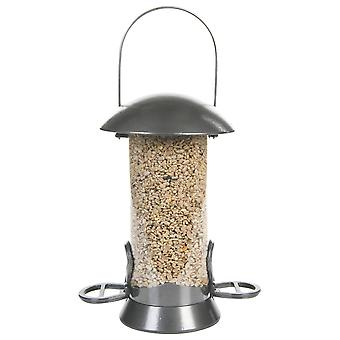 Cj Adventurer Metal Seed Feeder Gunmetal 2 Port Small 26cm