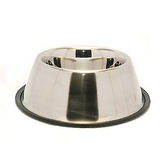 Icke-slip rostfritt stål Spaniel skål 1 liter