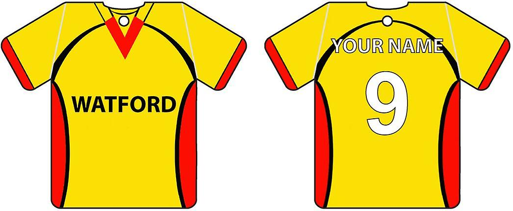 Personalised Watford Football Shirt Car Air Freshener