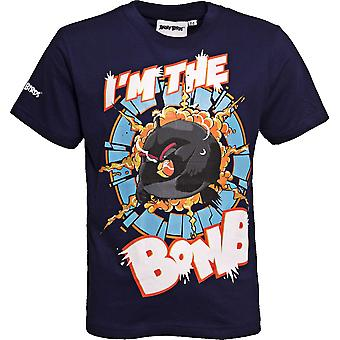 I'M THE BOMB | ANGRY BIRDS MOVIE | Official Licensed | Angry Bird T-Shirt | Age 3-5