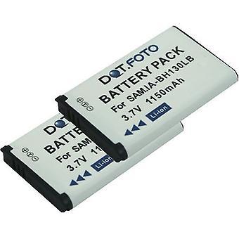 2 x batterij van de vervanging Samsung IA-BH130LB Dot.Foto - 3.7V / 1150mAh