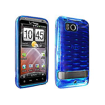 HTC Thunderbolt 6400 High Gloss Silicone Case (Blue) (Bulk Packaging)