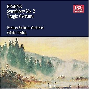 Brahms - Brahms: Sinfonia n. 2; Ouverture tragica [CD] USA importare
