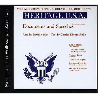 Dziedzictwo Usa część 1: Dokumenty & przemówienia - Vol. 2-dziedzictwo Usa część 1: import dokumentów & przemówienia [CD] Stany Zjednoczone Ameryki