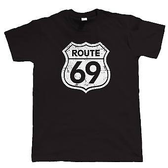 Vectorbomb, Route 69, Mens Funny Biker T Shirt (S to 5XL)