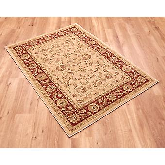 Ziegler 7709-Cream-Red Light beige ground with red border  Rectangle Rugs Traditional Rugs