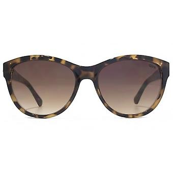 SUUNA Sian Diamante Trim Cateye Sunglasses In Tortoiseshell