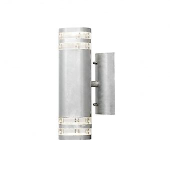 Konstsmide Modena Double Wall Light Galvanised