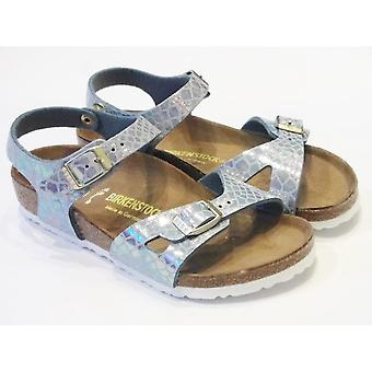 Birkenstock Rio Girls Silver Sandals From Birkenstock Size UK7 / EU24