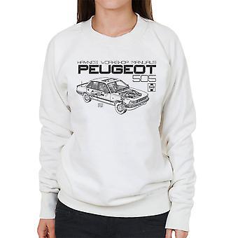 Haynes Workshop handmatige 0762 Peugeot 505 zwarte vrouwen Sweatshirt