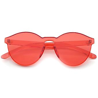 Et stykke PC linse uindfattede ultra-fed farverige Mono blok solbriller 60 mm