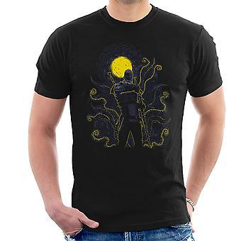 Post Impressionist White Wolf Dragon Ball Super Men's T-Shirt