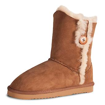 Nordvek Ladies Real Sheepskin Short Mid Calf Winter Boots Womens Genuine 490-100