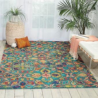 Vibrant Rugs Vib08 In Teal By Nourison