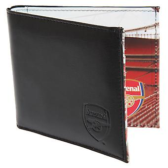 Arsenal FC Mens Official Football Stadium Leather Wallet