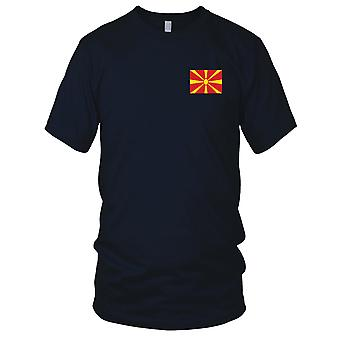 Macedonia Country National Flag - Embroidered Logo - 100% Cotton T-Shirt Kids T Shirt