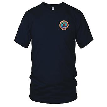 US Navy USS White Plains AFS-4 Combat Stores Ship Embroidered Patch - Ladies T Shirt