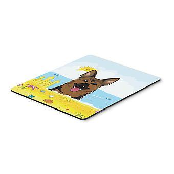 German Shepherd Summer Beach Mouse Pad, Hot Pad or Trivet