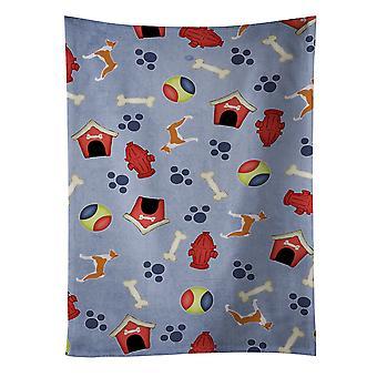 Carolines tesouros BB3974KTWL Basenji cão casa coleção toalha de cozinha