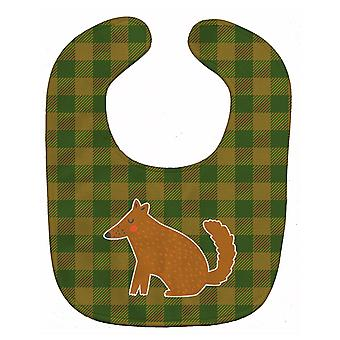 Carolines Treasures  BB6788BIB Brown Wolf Baby Bib