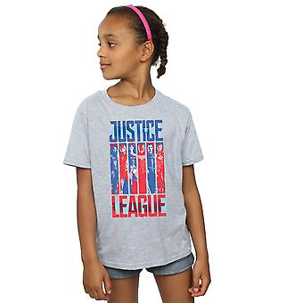 DC Comics Girls Justice League Movie Team Flag T-Shirt