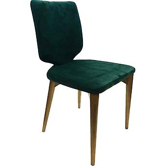 Classic Roll Top Pu Dining Chair - Jade