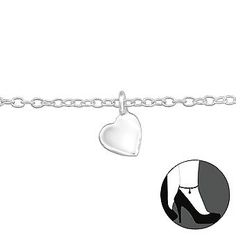 Heart - 925 Sterling Silver Anklets - W29975x