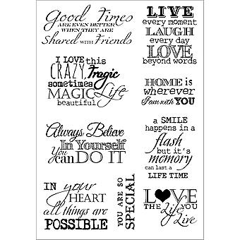 Debbi Moore Life Quotes A5 Stamp Sheet-Inspiration 4 DMNS043