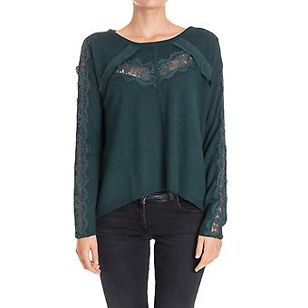 Twin-set ladies PA73EA00160 green viscose sweaters