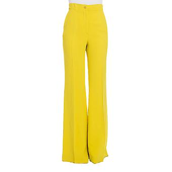 Rochas ladies RK390202A730 yellow viscose pants