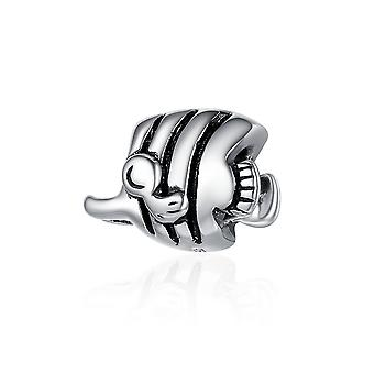 Sterling silver charm Tropical fish SCC488
