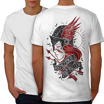 Remeber Fallen Fantasy Men WhiteT-shirt Back | Wellcoda