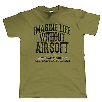 Leben ohne Airsoft Mens lustige T Shirt