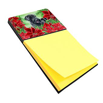 Carolines Treasures  CK1308SN Giant Schnauzer Poinsettas Sticky Note Holder