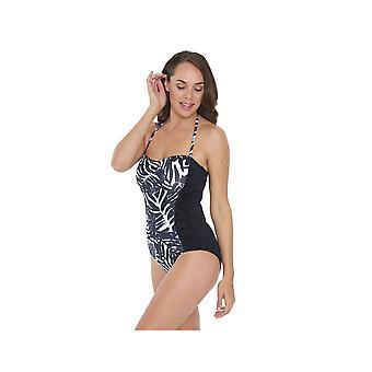 Seaspray SY007039 Women's Black Motif Costume One Piece Swimsuit
