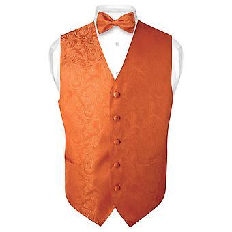 Masculine Paisley Design robe Vest & Bow Tie ensemble de noeud papillon
