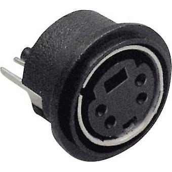 Mini DIN connector Socket, vertical vertical Number of pins: 8 Black BKL Electronic 0204033 1 pc(s)