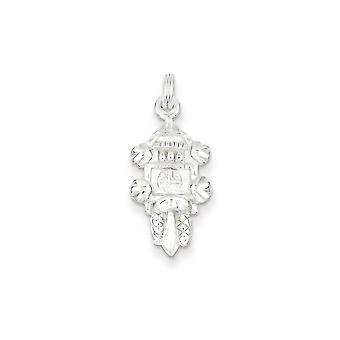 925 Sterling Silver Cuckoo Clock Charm Pendant - 10mm
