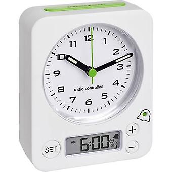 TFA 60.1511.02 Radio Alarm clock White Fluorescent Hands