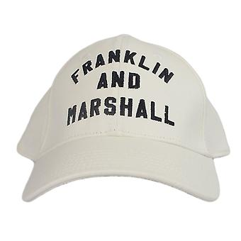 Franklin & Marshall Cpua906 Unisex Arch Logo White Cap