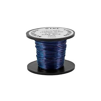 1 x Dark Blue Plated Copper 1.25mm x 3m Round Craft Wire Coil X1490